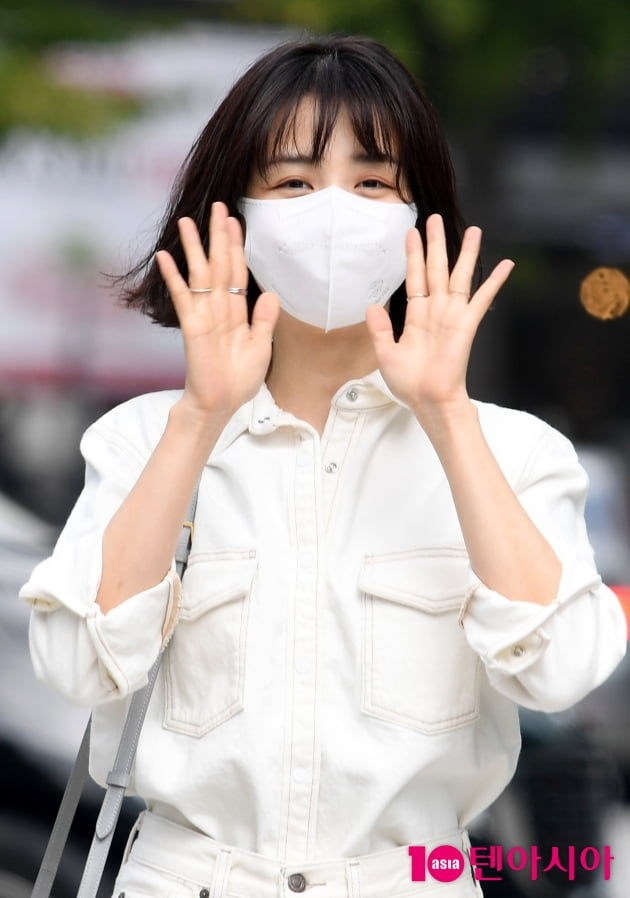 [TEN 포토] 박하선 '상큼한 인사'
