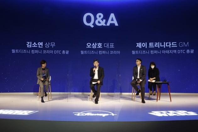 디즈니플러스가 14일 코리아 미디어 데이를 열고 한국에서 디즈니플러스 사업 방향에 대해 설명하는 자리를 가졌다. / 사진제공=월트디즈니컴퍼니 코리아