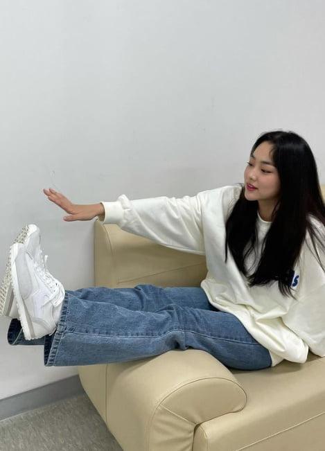 강미나, 오랜만에 신났네…자체발광 아기 피부 [TEN★]