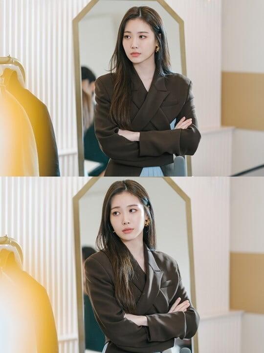 유라, 긴 머리→눈부신 미모…시크 도도 냉미녀 변신 ('지헤중')