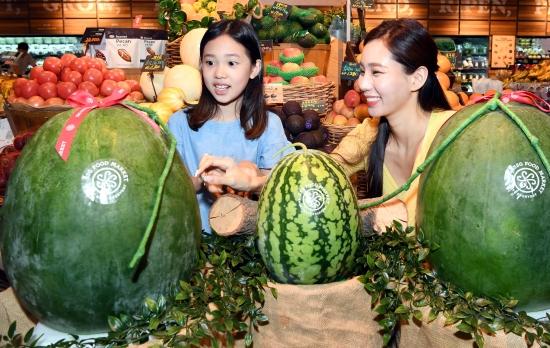 SSG푸드마켓, '푸랭이' 무등산 수박 판매
