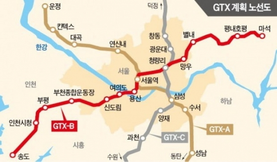 양주~수원 잇는 GTX C노선, 사업 추진 7년 만에 예비타당성 조사 통과